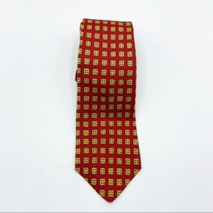 Brooks brothers red yellow pattern tie silk